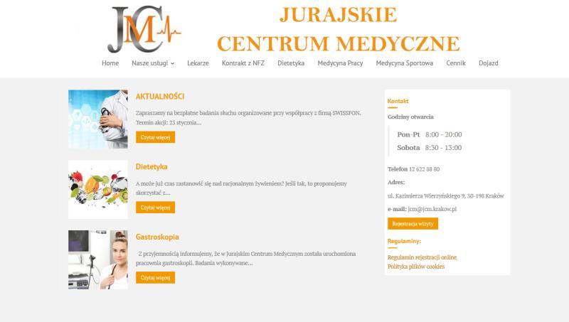 Nowa odsłona strony jcm.krakow.pl